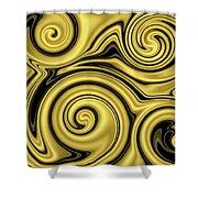 Gold Swirl Shower Curtain