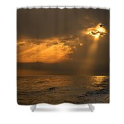 Gold Through The Clouds Shower Curtain