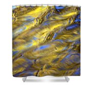 Gold Waters Shower Curtain