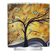 Golden Admiration By Madart Shower Curtain