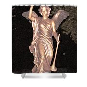 Golden Angel In The Night Shower Curtain