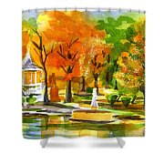 Golden Autumn Day 2 Shower Curtain