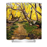 Golden Autumn - Drenova Shower Curtain