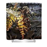 Golden Autumn Fern Shower Curtain