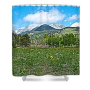 Golden Banner In Horseshoe Park In Rocky Mountain Np-co- Shower Curtain