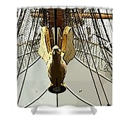Golden Bird Shower Curtain