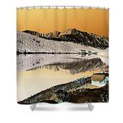 Golden Blues Shower Curtain