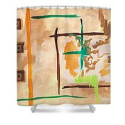Golden Boxes Shower Curtain