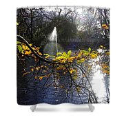Golden Branch Shower Curtain