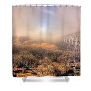 Golden Bridge Shower Curtain