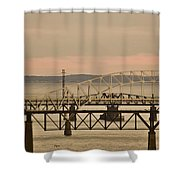 Golden Bridge Shower Curtain