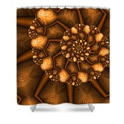 Golden Brown Shower Curtain