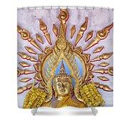 Golden Buddha Statue Shower Curtain