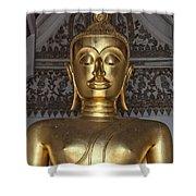 Golden Buddha Temple Statue Shower Curtain