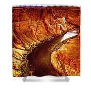 Golden Canyon Shower Curtain