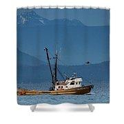 Golden Chalice Shower Curtain