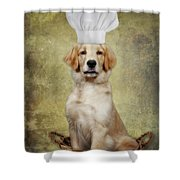Golden Chef Shower Curtain by Susan Candelario