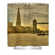 Golden City Shower Curtain