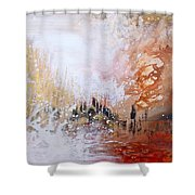 Golden City Shower Curtain