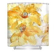 Golden Clematis 1 Shower Curtain