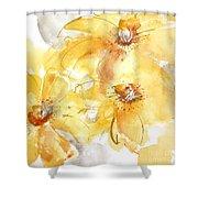 Golden Clematis 2 Shower Curtain