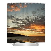 Golden Clouds At Grand Anse Shower Curtain