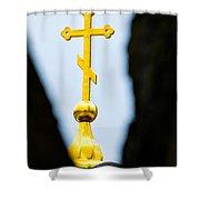 Golden Cross Shower Curtain