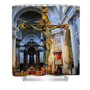 Golden Cross Shower Curtain