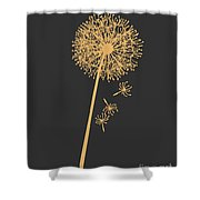 Golden Dandelion Shower Curtain