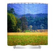 Golden Day Shower Curtain