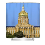 Golden Dome Of Iowa State Capital Shower Curtain