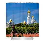 Golden Domes Of Moscow Kremlin - Featured 3 Shower Curtain