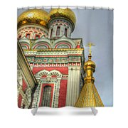 Golden Domes Of Russian Church Shower Curtain