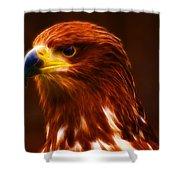 Golden Eagle Eye Fractalius Shower Curtain
