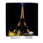 Golden Eiffel Tower  Shower Curtain