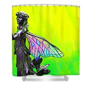 Golden Fairy Shower Curtain