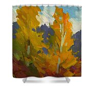 Golden Fall Shower Curtain