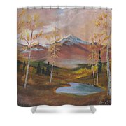 Golden Fire Of Autumn Shower Curtain