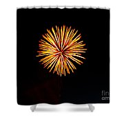 Golden Fireworks Flower Shower Curtain