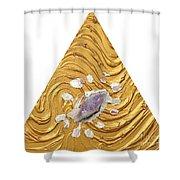 Golden Flow Creator Shower Curtain