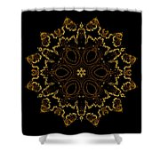 Golden Flower Of The Night Shower Curtain