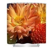 Golden Flowers Upclose  Shower Curtain