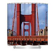 Golden Gate Bridge Shower Curtain by Adam Romanowicz