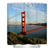Golden Gate At Sunset Shower Curtain