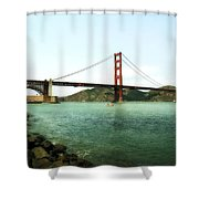 Golden Gate Bridge 2.0 Shower Curtain by Michelle Calkins