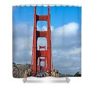 Golden Gate Bridge Shower Curtain by Adam Romanowicz