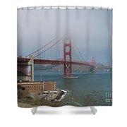 Golden Gate Bridge And Fort Point Shower Curtain