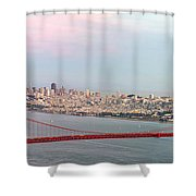 Golden Gate Bridge And San Francisco Skyline Shower Curtain