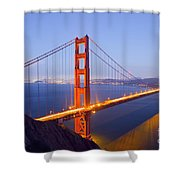 Golden Gate Bridge At Dusk Shower Curtain