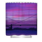 Golden Gate Bridge At Twilight Shower Curtain